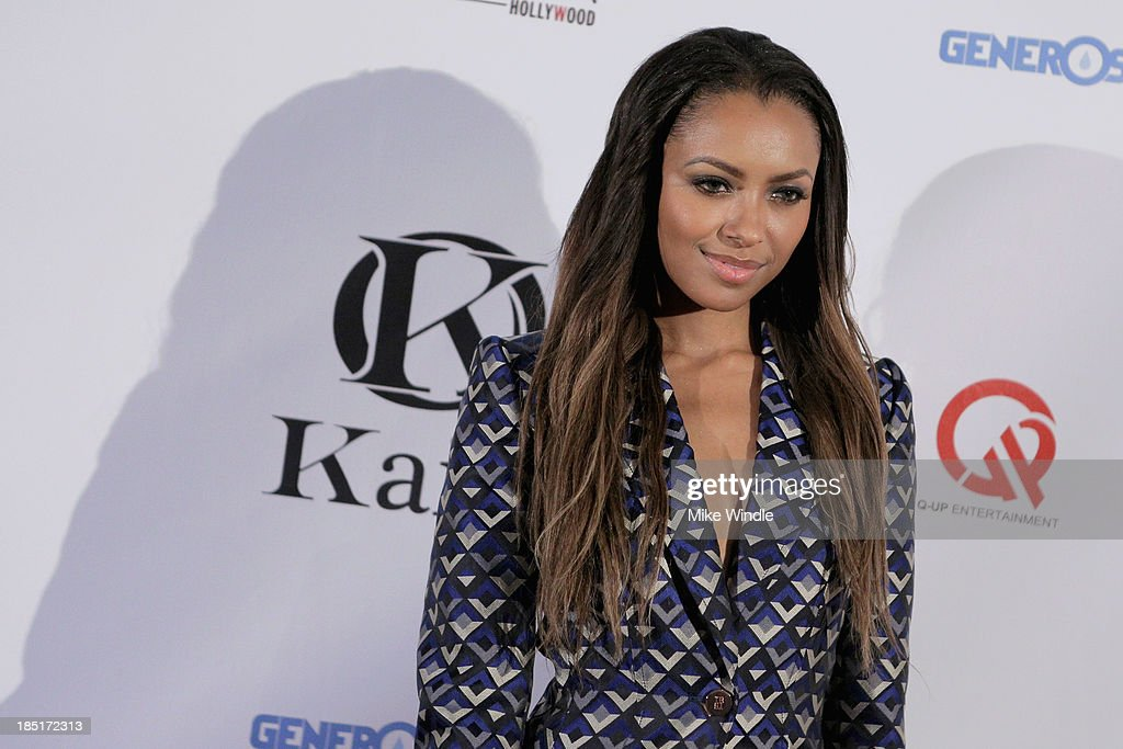 Actress Kat Graham attends the Kaiio's launch event at Station Hollywood at W Hollywood Hotel on October 17, 2013 in Hollywood, California.