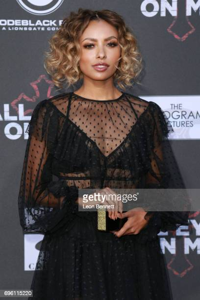 Actress Kat Graham attends the premiere of Lionsgate's 'All Eyez On Me' at the Westwood Village Theatres on June 14 2017 in Los Angeles California
