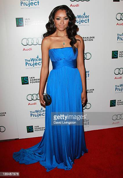 Actress Kat Graham attends The Ripple Effect charity dinner hosted by Graham and Ian Somerhalder at Sunset Luxe Hotel on December 10 2011 in Los...