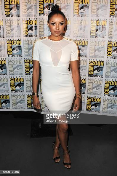Actress Kat Graham attends the 'The Vampire Diaries' panel during ComicCon International 2015 at the San Diego Convention Center on July 12 2015 in...