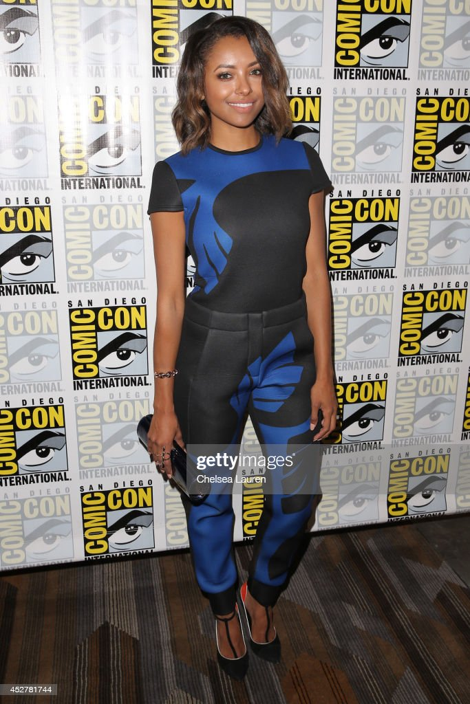Actress Kat Graham attends 'The Vampire Diaries' press room at Comic-Con International on July 26, 2014 in San Diego, California.
