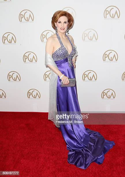 Actress Kat Kramer attends 27th Annual Producers Guild Of America Awards at the Hyatt Regency Century Plaza on January 23 2016 in Century City...
