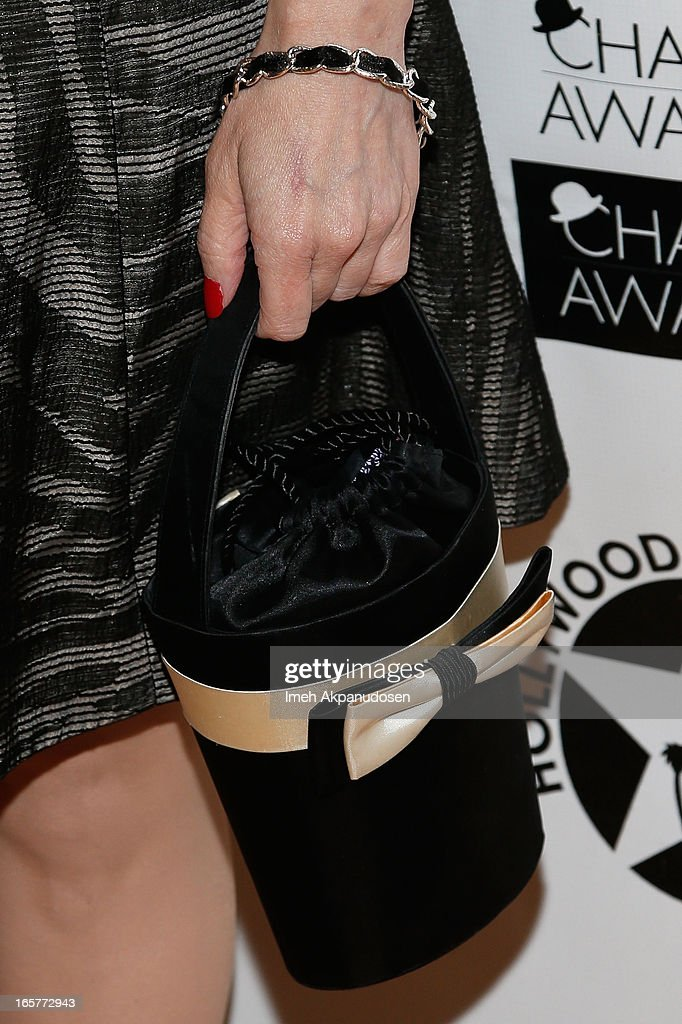 Actress Kat Kramer (handbag detail) attends Hollywood Arts Council's 27th Annual Charlie Awards Luncheon at Hollywood Roosevelt Hotel on April 5, 2013 in Hollywood, California.