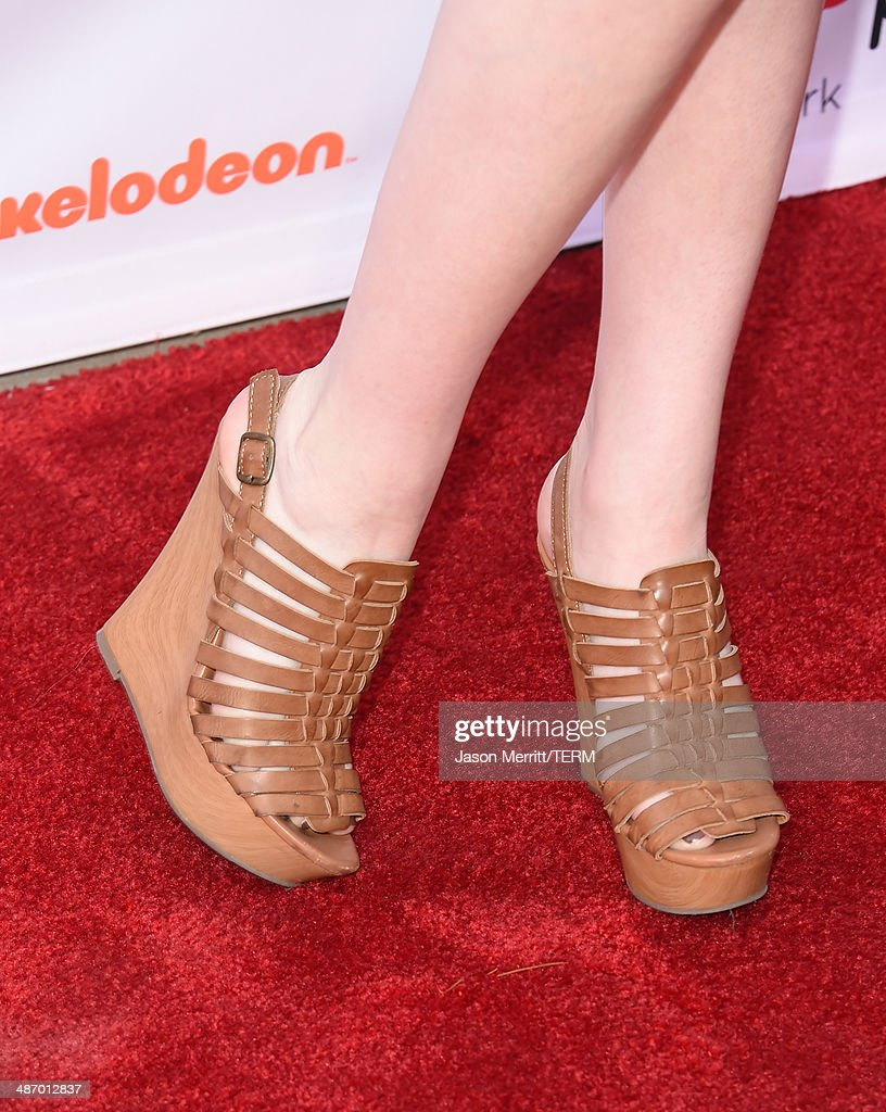 Actress Kat McNamara attends the Lollipop Theater Network's Night Under The Stars Screening Of Twentieth Century Fox's 'Rio 2' Hosted by Anne Hathaway at Nickelodeon Animation Studio on April 26, 2014 in Burbank, California.