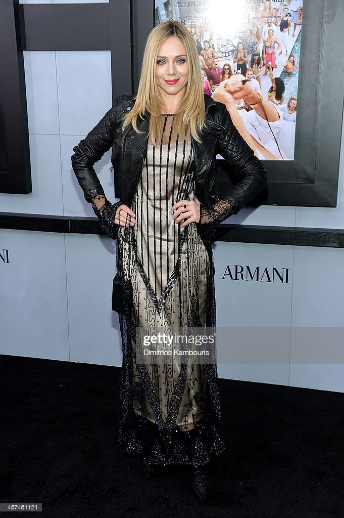 Actress Katarina Cas attends the 'The Wolf Of Wall Street' premiere at the Ziegfeld Theatre on December 17, 2013 in New York City.