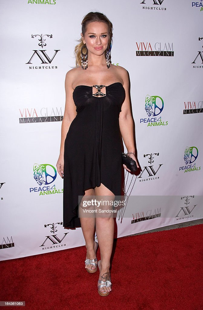 Actress Katarina Van Derham attends the Viva Glam Magazine April launch party in support of Peace 4 Animals at AV on March 22, 2013 in Hollywood, California.