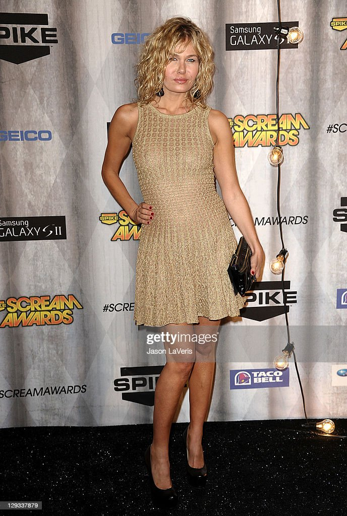 Actress Katarzyna Wolejnio attends Spike TV's 2011 Scream Awards at Gibson Amphitheatre on October 15, 2011 in Universal City, California.