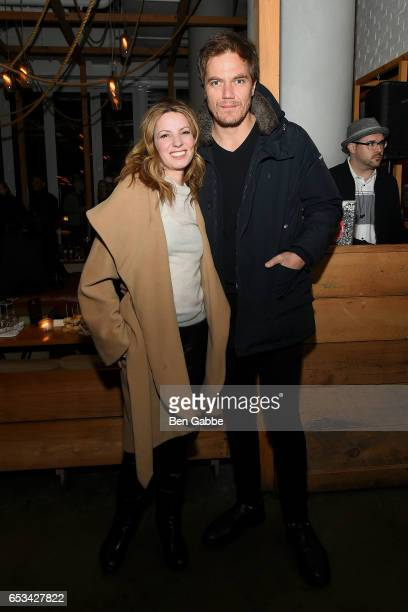 Actress Kate Arrington and actor Michael Shannon attend the after party for the TriStar and Cinema Society screening of 'T2 Trainspotting' at Mr...