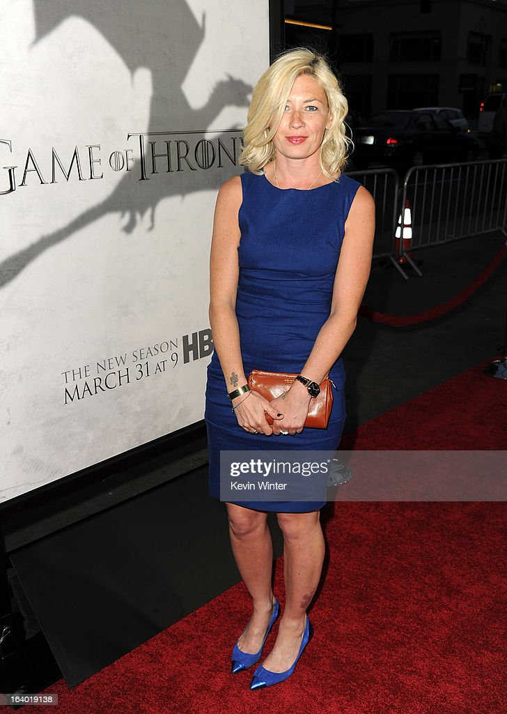 Actress Kate Ashfield arrives at the premiere of HBO's 'Game Of Thrones' Season 3 at TCL Chinese Theatre on March 18, 2013 in Hollywood, California.