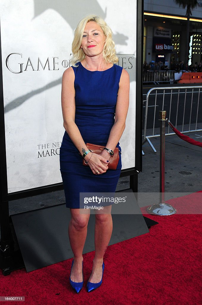Actress Kate Ashfield attends 'Game Of Thrones' Los Angeles premiere presented by HBO at TCL Chinese Theatre on March 18, 2013 in Hollywood, California.