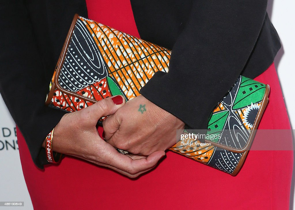 Actress Kate Ashfield (purse detail) attends the 8th Annual BritWeek Launch Party on April 22, 2014 in Los Angeles, California.