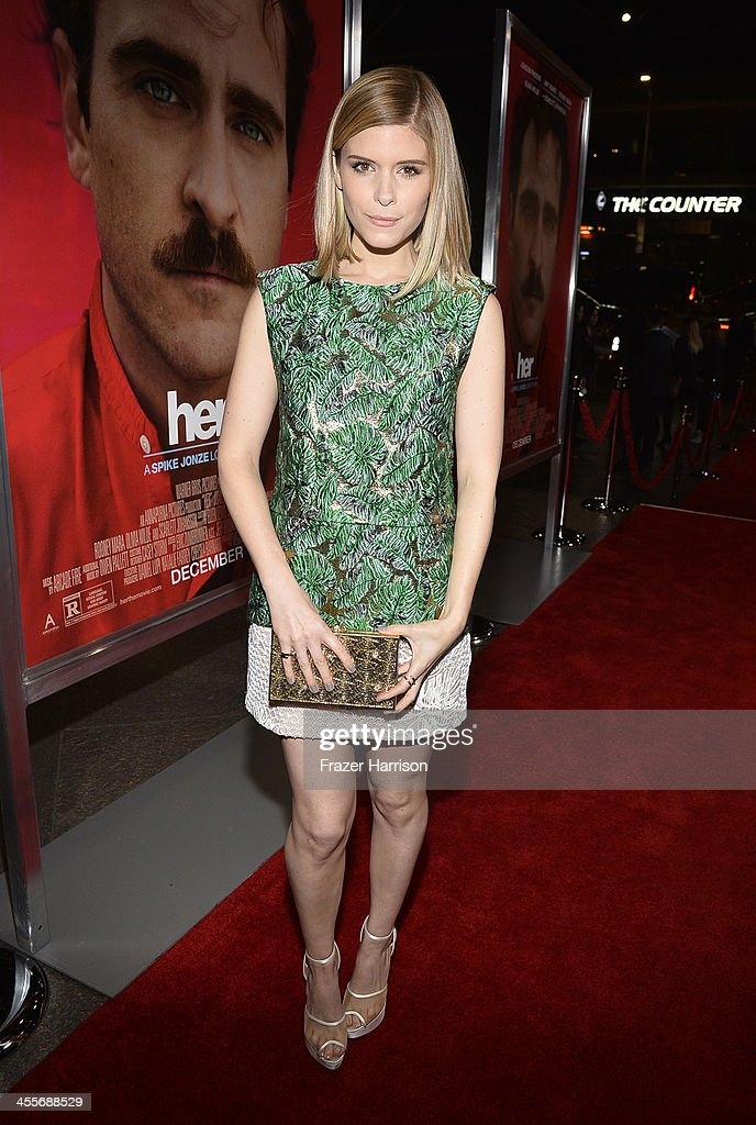 Actress Kate attends the premiere of Warner Bros. Pictures 'Her' at DGA Theater on December 12, 2013 in Los Angeles, California.