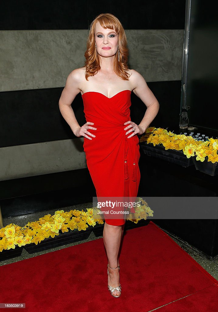 Actress <a gi-track='captionPersonalityLinkClicked' href=/galleries/search?phrase=Kate+Baldwin&family=editorial&specificpeople=2656972 ng-click='$event.stopPropagation()'>Kate Baldwin</a> attends the 'Big Fish' Broadway Opening Night After Party at Roseland Ballroom on October 6, 2013 in New York City.