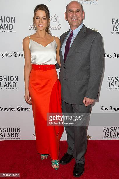 Actress Kate Beckinsale and CEO of Newport Beach Film Festival Greg Schwenk attends the 17th Annual Newport Beach Film Festival Honors Reception 2016...