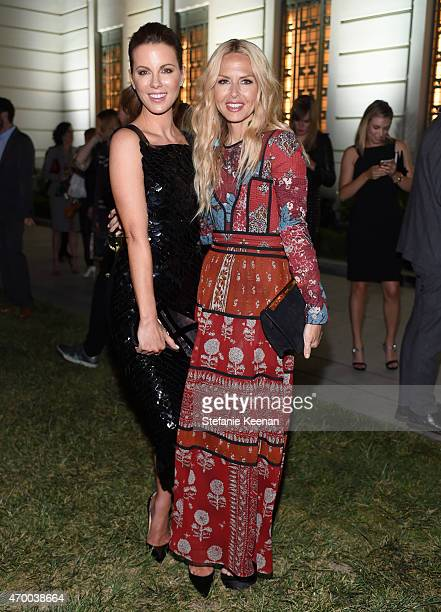 Actress Kate Beckinsale and designer Rachel Zoe attend the Burberry 'London in Los Angeles' event at Griffith Observatory on April 16 2015 in Los...