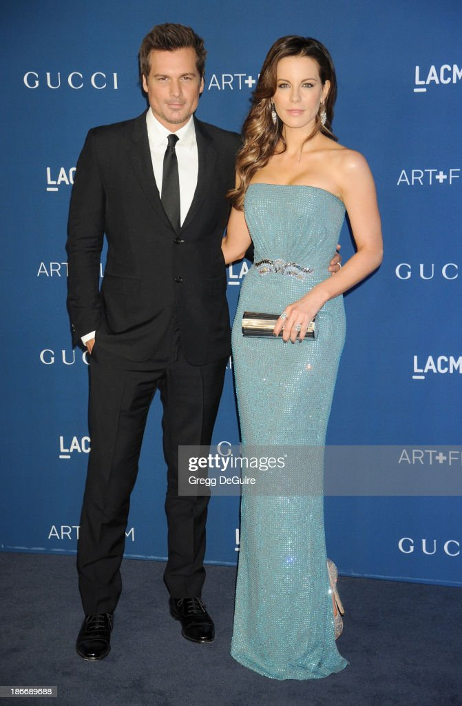 Actress Kate Beckinsale and director Len Wiseman arrive at the LACMA 2013 Art + Film Gala at LACMA on November 2, 2013 in Los Angeles, California.