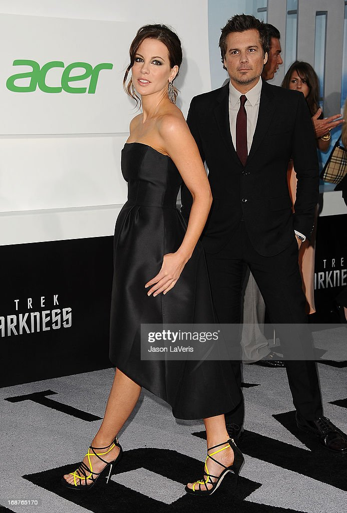 Actress Kate Beckinsale and director Len Wiseman attend the premiere of 'Star Trek Into Darkness' at Dolby Theatre on May 14, 2013 in Hollywood, California.