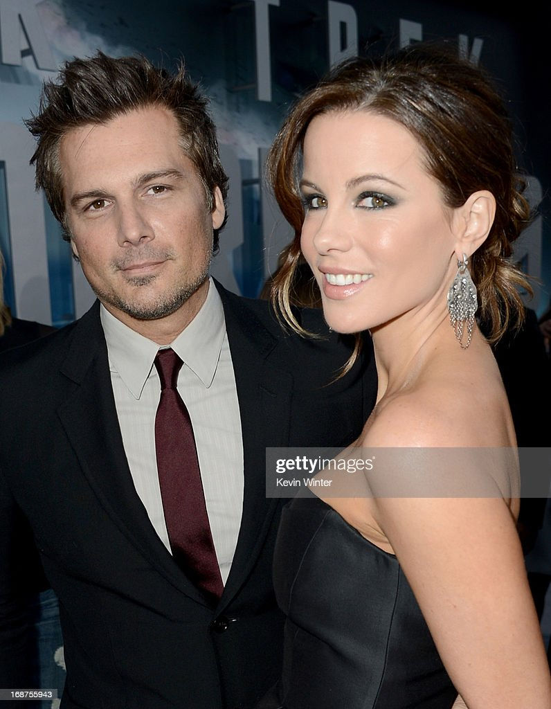 Actress Kate Beckinsale (R) and husband Director Len Wiseman arrive at the Premiere of Paramount Pictures' 'Star Trek Into Darkness' at Dolby Theatre on May 14, 2013 in Hollywood, California.