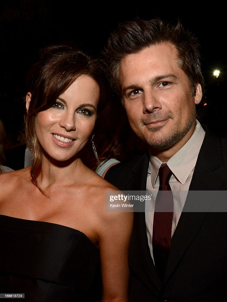 Actress Kate Beckinsale (L) and husband Director Len Wiseman attend the Premiere of Paramount Pictures' 'Star Trek Into Darkness' on May 14, 2013 in Hollywood, California.