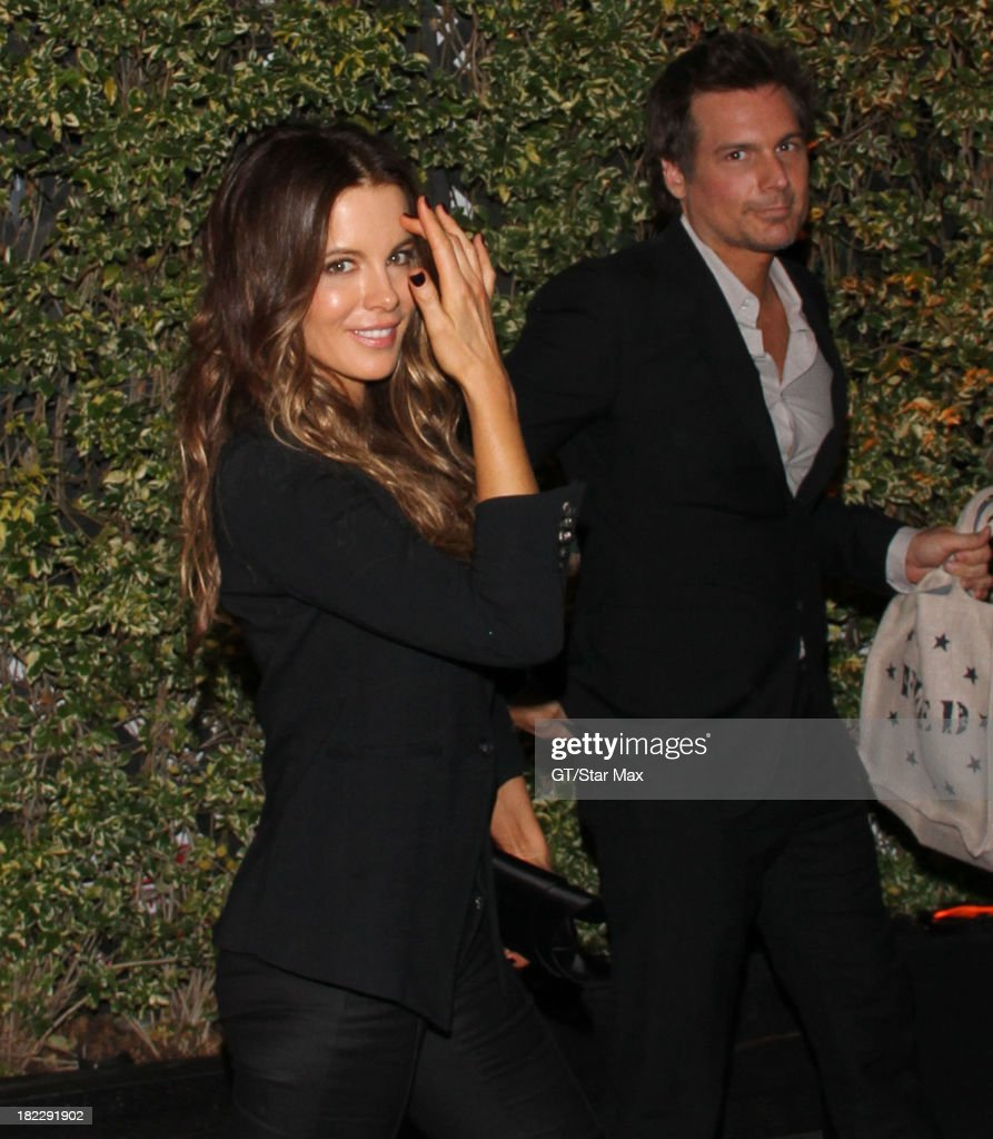 Actress Kate Beckinsale and Len Wiseman are seen on September 28, 2013 in Los Angeles, California.