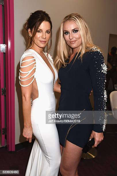 Actress Kate Beckinsale and skiier Lindsey Vonn attend the 2016 Billboard Music Awards at TMobile Arena on May 22 2016 in Las Vegas Nevada