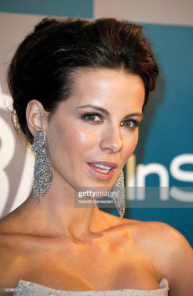 Actress <a gi-track='captionPersonalityLinkClicked' href=/galleries/search?phrase=Kate+Beckinsale&family=editorial&specificpeople=202911 ng-click='$event.stopPropagation()'>Kate Beckinsale</a> arrives at 13th Annual Warner Bros. And InStyle Golden Globe Awards After Party at The Beverly Hilton hotel on January 15, 2012 in Beverly Hills, California.