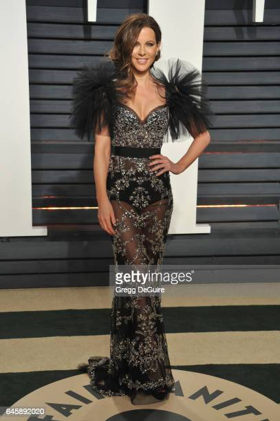 Actress Kate Beckinsale arrives at the 2017 Vanity Fair Oscar Party Hosted By Graydon Carter at Wallis Annenberg Center for the Performing Arts on...