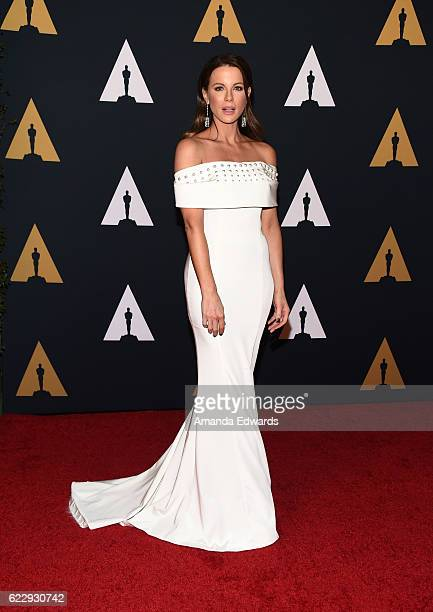 Actress Kate Beckinsale arrives at the Academy of Motion Picture Arts and Sciences' 8th Annual Governors Awards at The Ray Dolby Ballroom at...