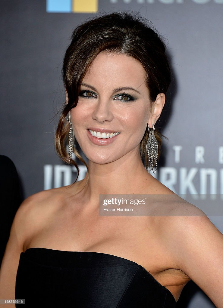 Actress <a gi-track='captionPersonalityLinkClicked' href=/galleries/search?phrase=Kate+Beckinsale&family=editorial&specificpeople=202911 ng-click='$event.stopPropagation()'>Kate Beckinsale</a> arrives at the premiere of Paramount Pictures' 'Star Trek Into Darkness' at the Dolby Theatre on May 14, 2013 in Hollywood, California.