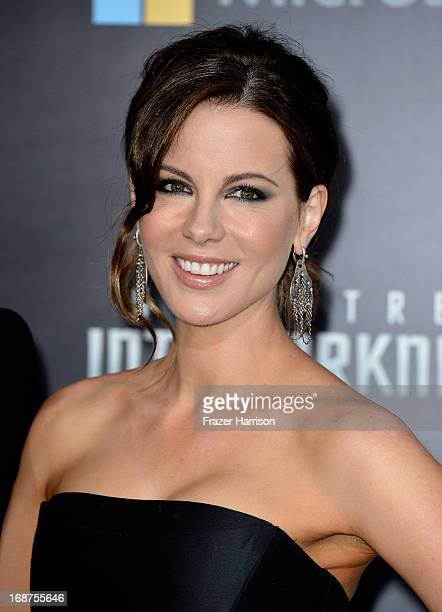 Actress Kate Beckinsale arrives at the premiere of Paramount Pictures' 'Star Trek Into Darkness' at the Dolby Theatre on May 14 2013 in Hollywood...