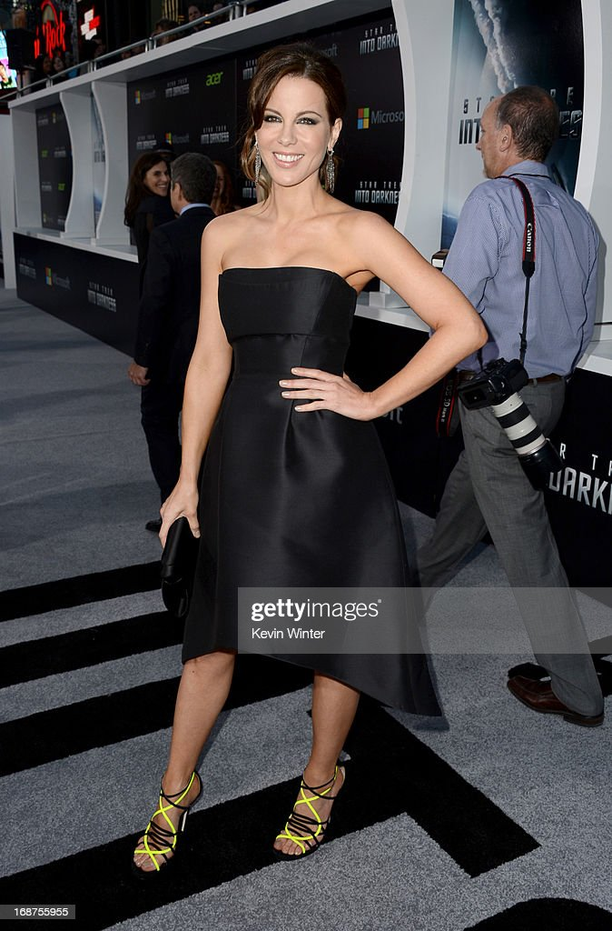 Actress Kate Beckinsale arrives at the Premiere of Paramount Pictures' 'Star Trek Into Darkness' at Dolby Theatre on May 14, 2013 in Hollywood, California.