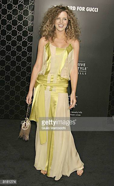 Actress Kate Beckinsale arrives at the Rodeo Drive Walk of Style Event Honoring Tom Ford on March 28 2004 in Beverly Hills California