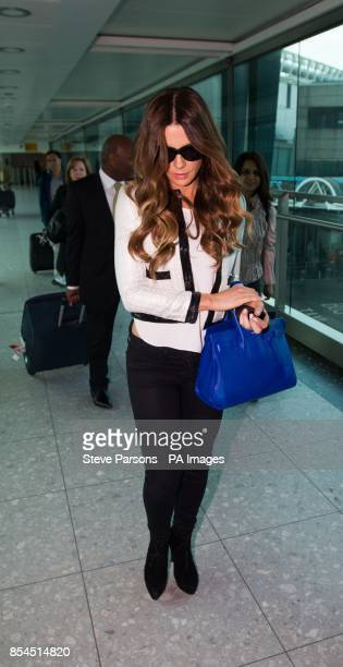 Actress Kate Beckinsale arrives from Los Angeles at Heathrow Airport London