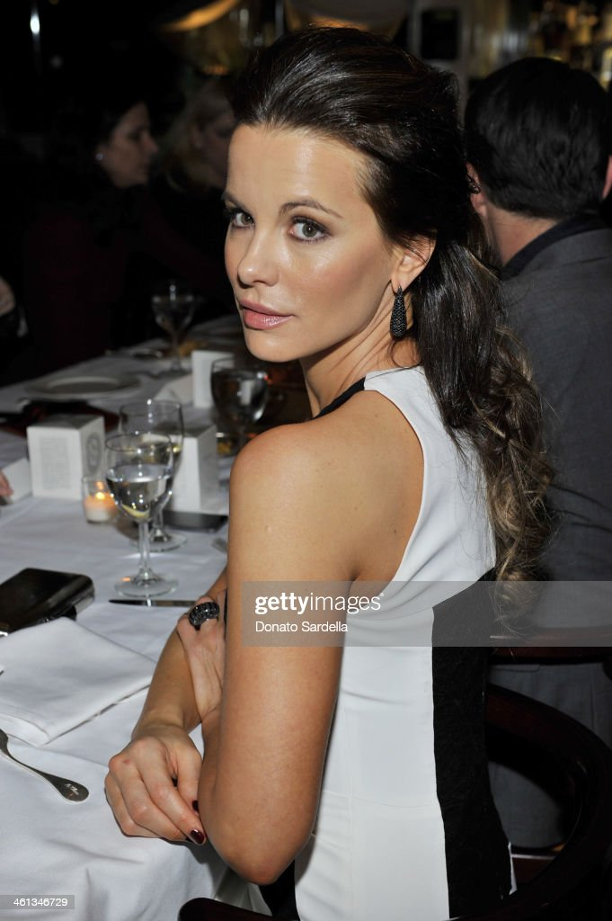 Actress <a gi-track='captionPersonalityLinkClicked' href=/galleries/search?phrase=Kate+Beckinsale&family=editorial&specificpeople=202911 ng-click='$event.stopPropagation()'>Kate Beckinsale</a> attend Private Antonio Berardi dinner on January 7, 2014 in Beverly Hills, California.
