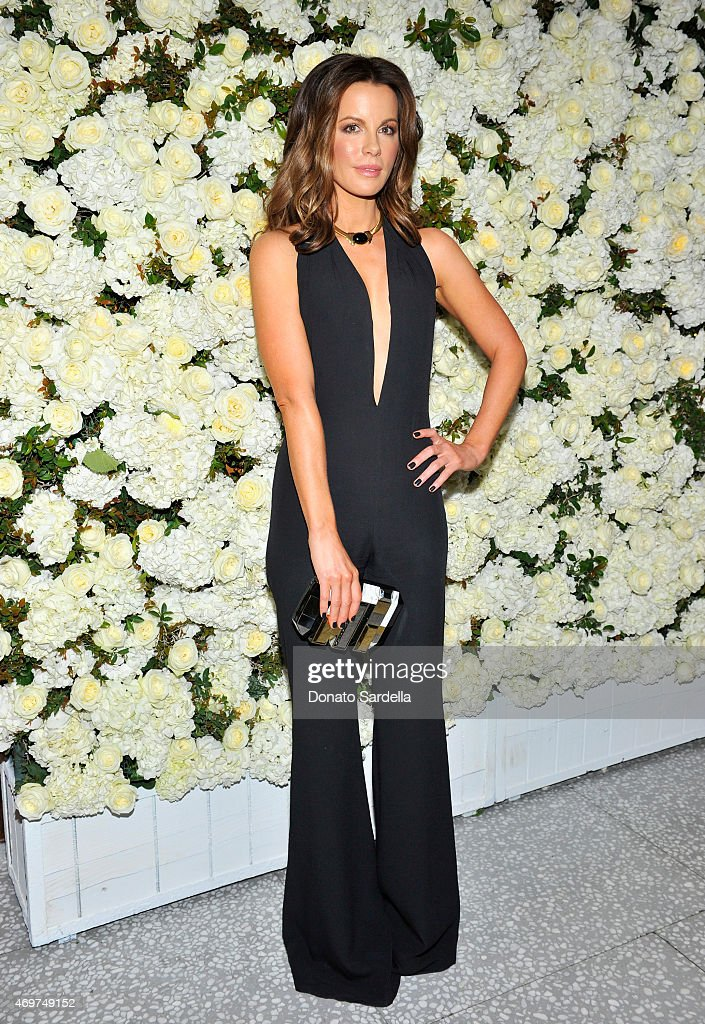 Actress <a gi-track='captionPersonalityLinkClicked' href=/galleries/search?phrase=Kate+Beckinsale&family=editorial&specificpeople=202911 ng-click='$event.stopPropagation()'>Kate Beckinsale</a> attends David And Victoria Beckham, Along With Barneys New York, Host A Dinner To Celebrate The Victoria Beckham Collection at Fred's at Barneys on April 14, 2015 in Beverly Hills, California.