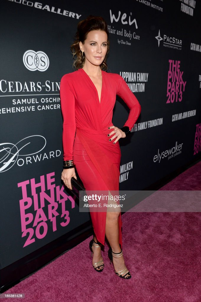 Actress <a gi-track='captionPersonalityLinkClicked' href=/galleries/search?phrase=Kate+Beckinsale&family=editorial&specificpeople=202911 ng-click='$event.stopPropagation()'>Kate Beckinsale</a> attends Elyse Walker Presents The Pink Party 2013 hosted by Anne Hathaway at Barker Hangar on October 19, 2013 in Santa Monica, California.