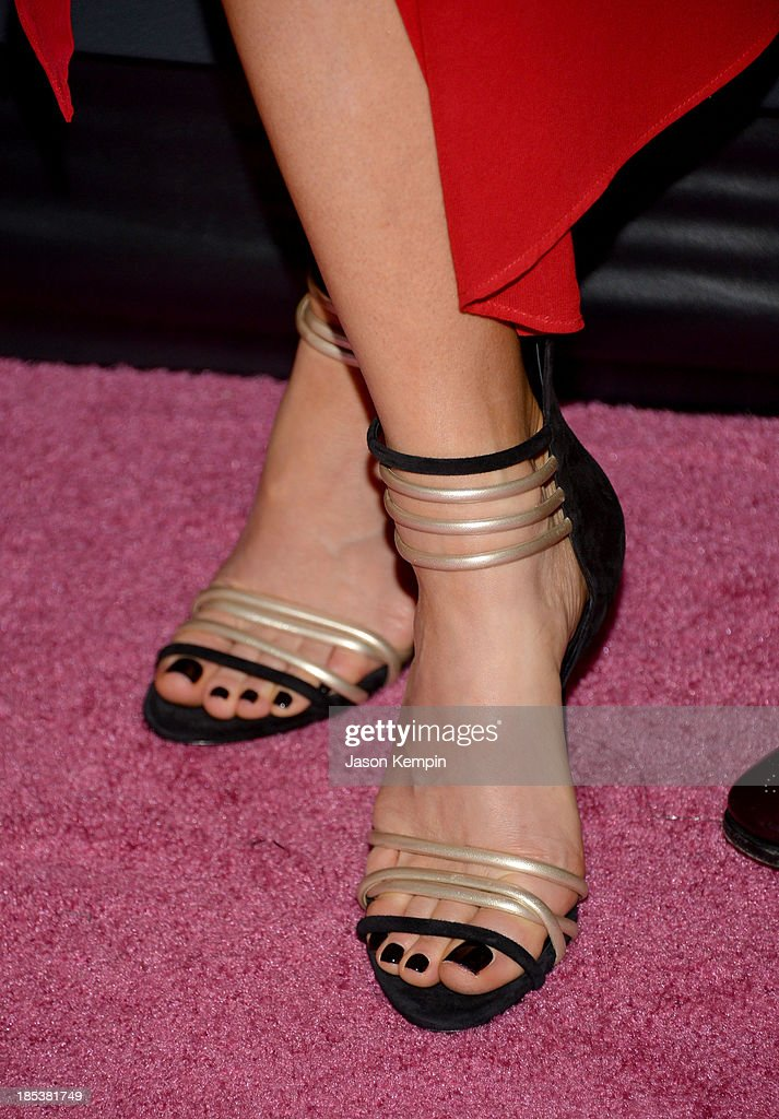 Actress Kate Beckinsale (shoe detail) attends Elyse Walker Presents The Pink Party 2013 hosted by Anne Hathaway at Barker Hangar on October 19, 2013 in Santa Monica, California.