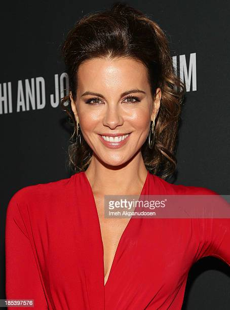 Actress Kate Beckinsale attends FIJI Water at the 9th Annual Pink Party Benefiting The CedarsSinai Women's Cancer Program at HANGAR8 on October 19...