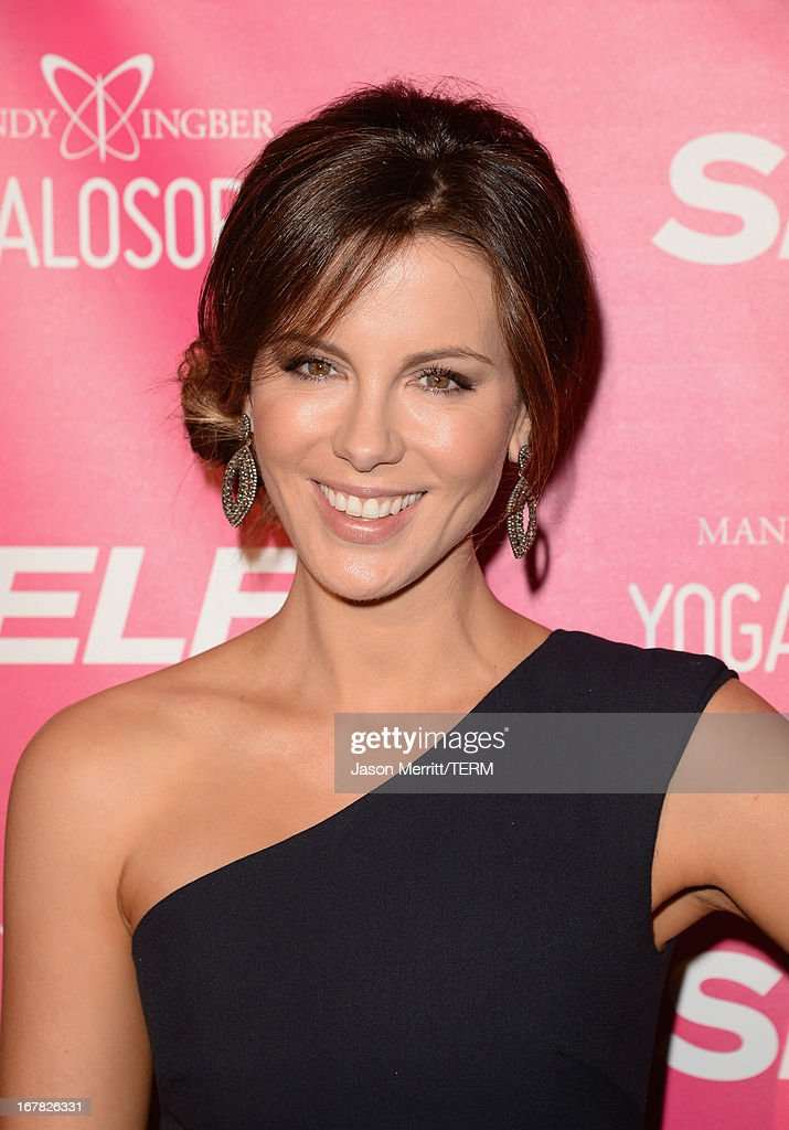 Actress <a gi-track='captionPersonalityLinkClicked' href=/galleries/search?phrase=Kate+Beckinsale&family=editorial&specificpeople=202911 ng-click='$event.stopPropagation()'>Kate Beckinsale</a> attends SELF Magazine and Jennifer Aniston's celebration of Mandy Ingber's new book 'Yogalosophy: 28 Days to the Ultimate Mind-Body Makeover' (Seal Press) on April 30, 2013 in Los Angeles, California.