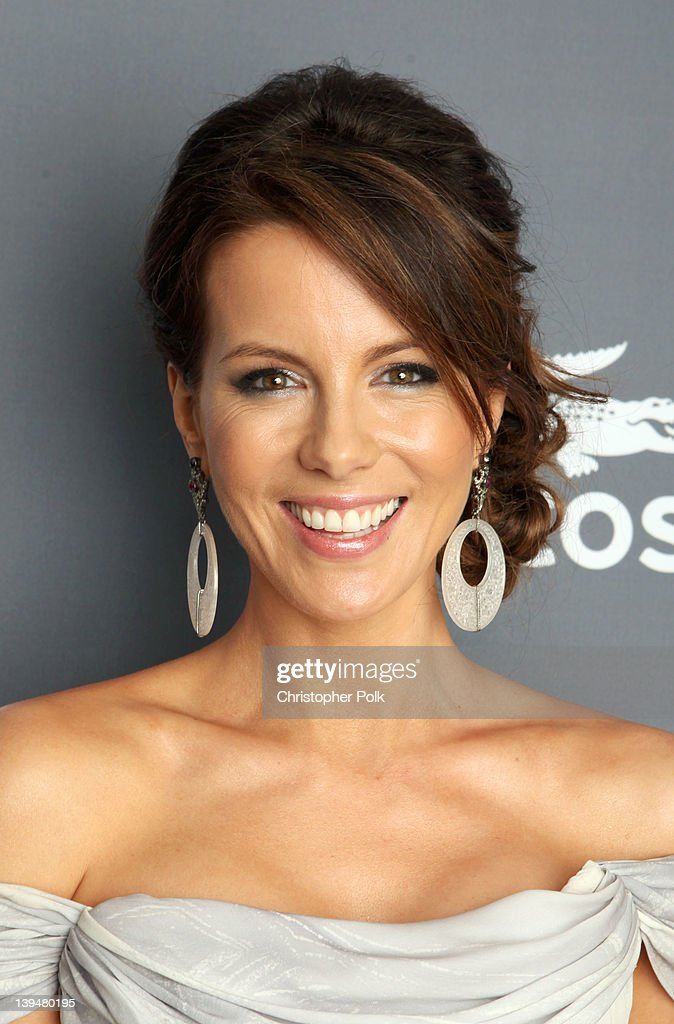 Actress Kate Beckinsale attends the 14th Annual Costume Designers Guild Awards With Presenting Sponsor Lacoste held at The Beverly Hilton hotel on...