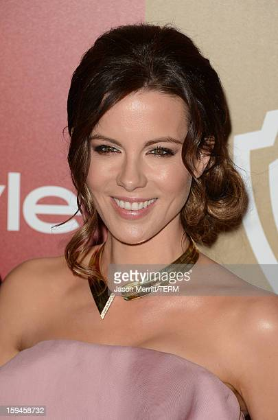 Actress Kate Beckinsale attends the 14th Annual Warner Bros And InStyle Golden Globe Awards After Party held at the Oasis Courtyard at the Beverly...