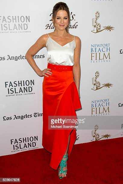Actress Kate Beckinsale attends the 17th Annual Newport Beach Film Festival Honors Reception 2016 at The Balboa Bay Club And Resort on April 23 2016...