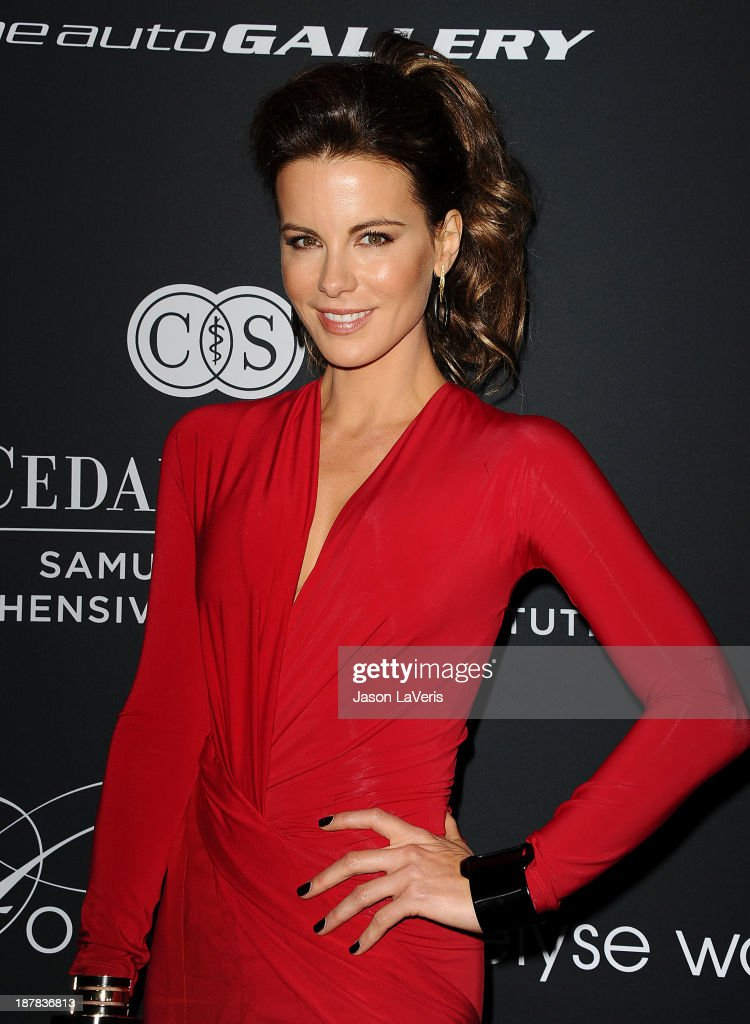 Actress <a gi-track='captionPersonalityLinkClicked' href=/galleries/search?phrase=Kate+Beckinsale&family=editorial&specificpeople=202911 ng-click='$event.stopPropagation()'>Kate Beckinsale</a> attends the 2013 Pink Party at Hangar 8 on October 19, 2013 in Santa Monica, California.