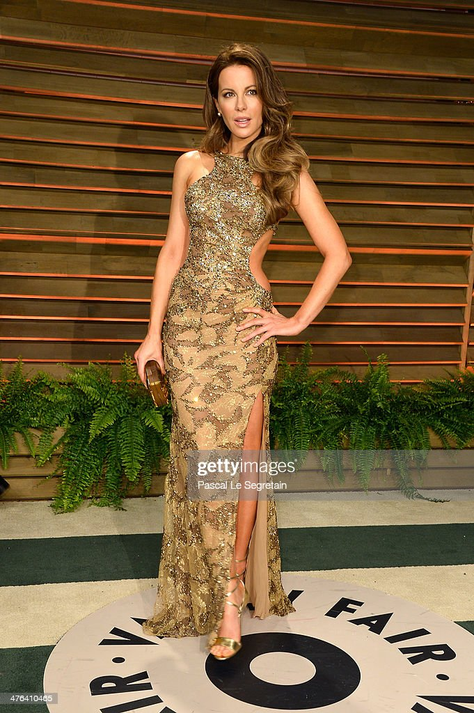 Actress Kate Beckinsale attends the 2014 Vanity Fair Oscar Party hosted by Graydon Carter on March 2 2014 in West Hollywood California
