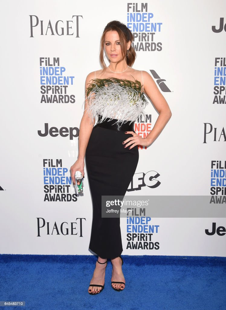 Actress Kate Beckinsale attends the 2017 Film Independent Spirit Awards at the Santa Monica Pier on February 25, 2017 in Santa Monica, California.