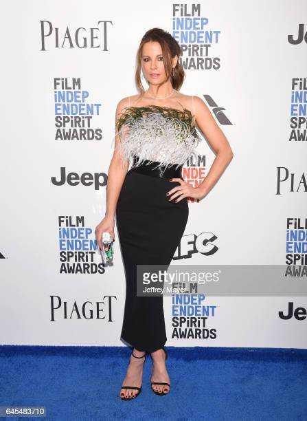 Actress Kate Beckinsale attends the 2017 Film Independent Spirit Awards at the Santa Monica Pier on February 25 2017 in Santa Monica California