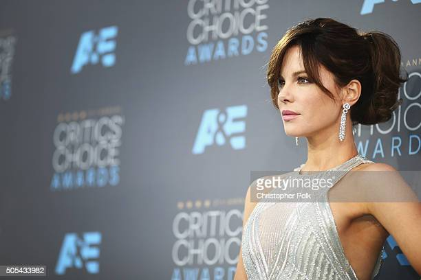 Actress Kate Beckinsale attends the 21st Annual Critics' Choice Awards at Barker Hangar on January 17 2016 in Santa Monica California