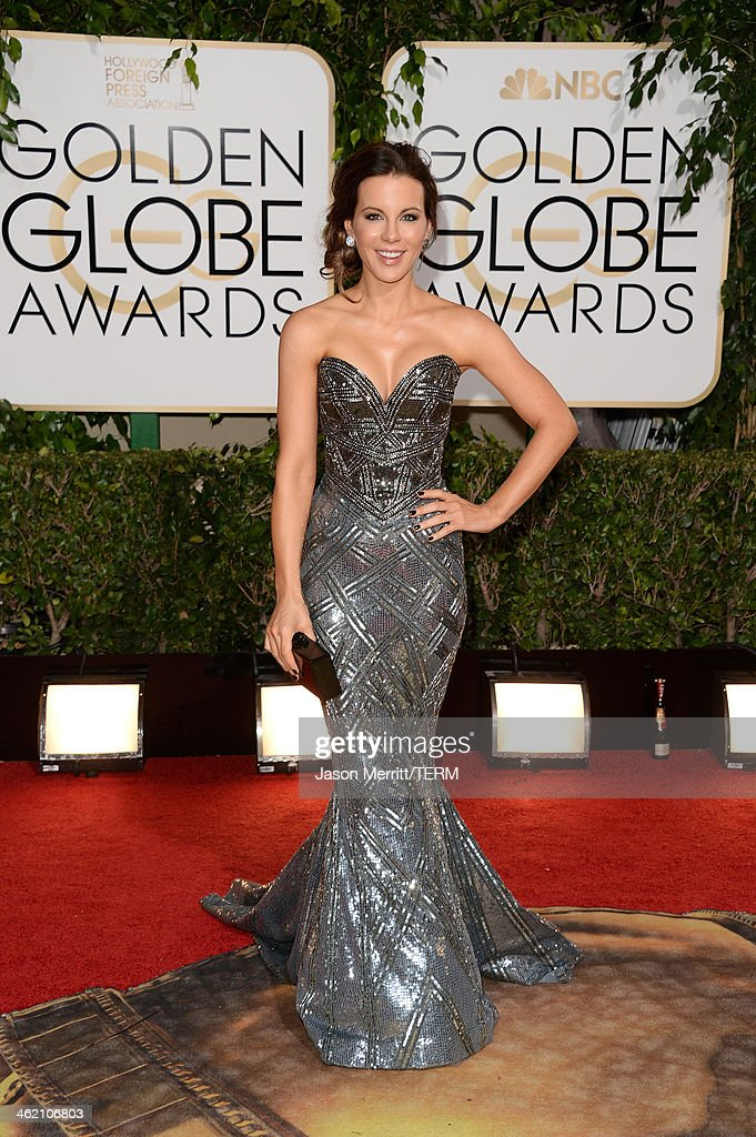 Actress Kate Beckinsale attends the 71st Annual Golden Globe Awards held at The Beverly Hilton Hotel on January 12 2014 in Beverly Hills California