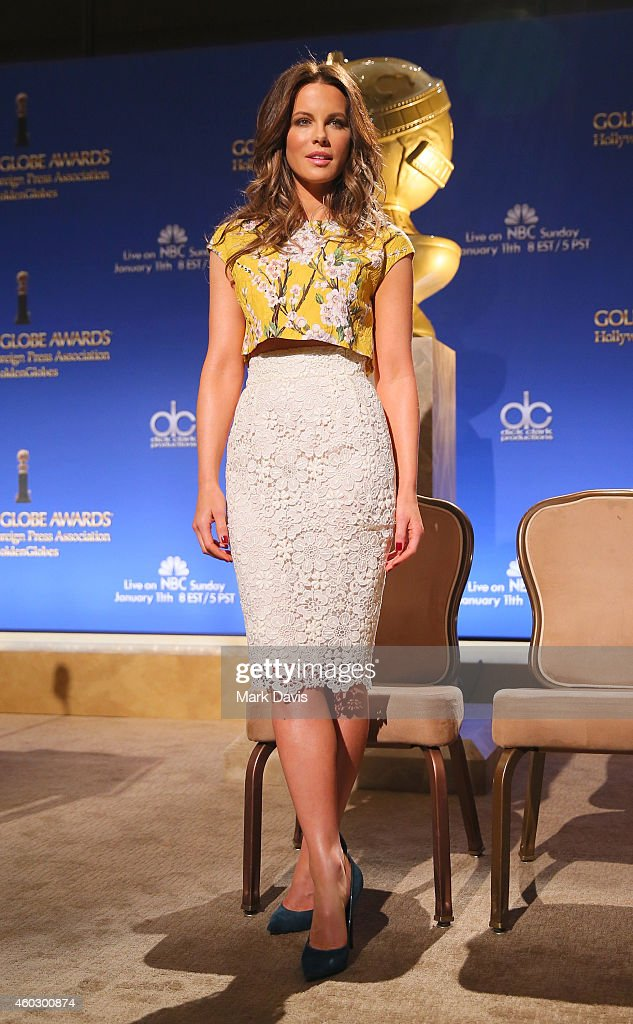 Actress Kate Beckinsale attends the 72nd Annual Golden Globe Awards Nominations Announcement at The Beverly Hilton Hotel on December 11 2014 in Los...