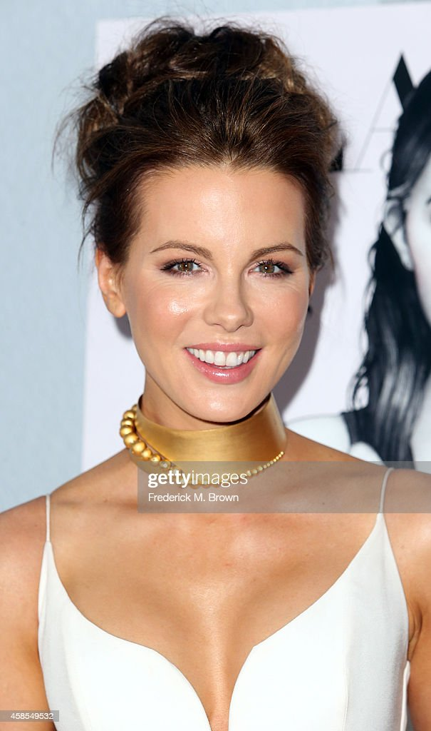 Actress <a gi-track='captionPersonalityLinkClicked' href=/galleries/search?phrase=Kate+Beckinsale&family=editorial&specificpeople=202911 ng-click='$event.stopPropagation()'>Kate Beckinsale</a> attends the Battersea Power Station Global Launch Party in Los Angeles at The London Hotel on November 6, 2014 in West Hollywood, California.